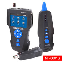 Noyafa NF 8601S TDR Multi Functional LCD Network Cable Tester Tracker for RJ45, RJ11, BNC, Metal Cable,PING/POE (8601S)
