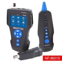 TDR сети ЖК дисплей кабельный тестер, Noyafa NF 8601S многофункциональный трекер для RJ45, RJ11, BNC, металлический кабельный, пинг/POE, w/Порты и разъёмы миг