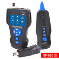 TDR Netwerk LCD Kabel Tester, Noyafa NF-8601S Multi-Functionele Tracker voor RJ45, RJ11, BNC, metalen Kabel, PING/POE, w/Poort Knipperende