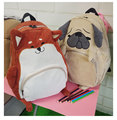 SUPER QUALITY Japanese cute animal Pug bag original cloth backpack of junior high school students autumn schoolbag female gift