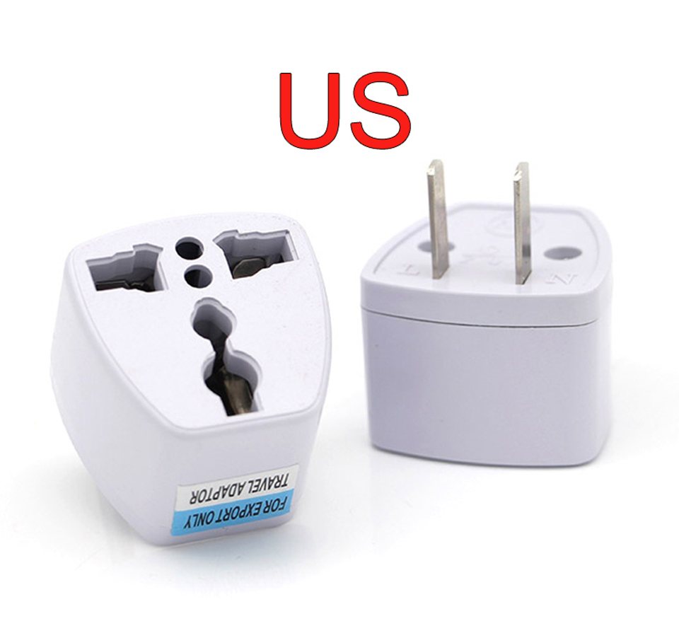 New Arrival 1 PC Universal UK US AU to EU AC Power Socket Plug Travel Electrical Charger Adapter Converter Japan China American (8)
