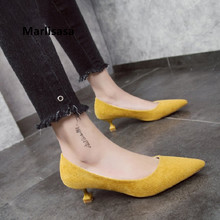 Marlisasa Women Fashion Office High Heel Shoes Lady High Qua