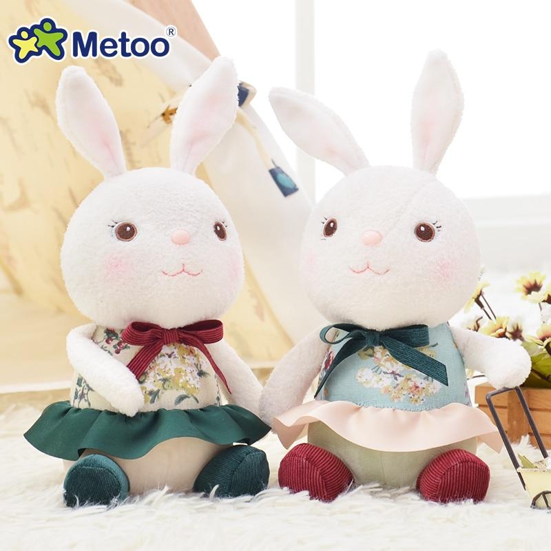 Official METOO Plush Tiramitu Classical Sitting Bunny Cartoon Metoo Toys with Skirt Stuffed Tiramisu Rabbit Doll Collection