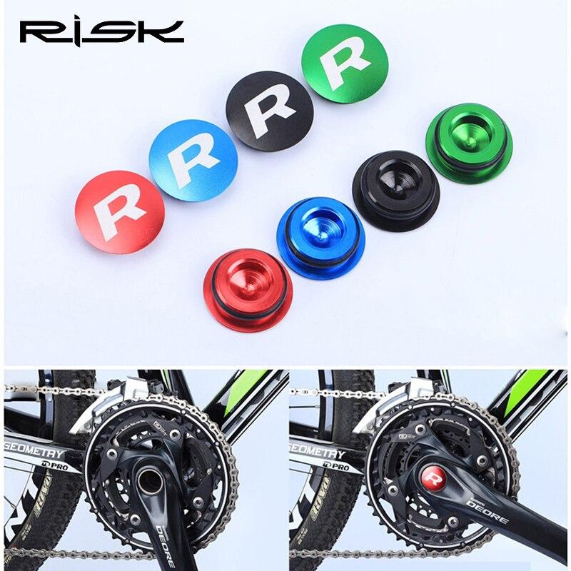 RISK 22-25 мм велосипедный Нижний Кронштейн водонепроницаемый чехол для велосипедного Картера Защитная крышка для SHIMANO XT Алюминиевая CNC ось bb кр...