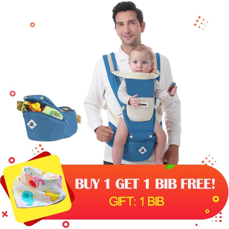 Воздухопроницаемая переноска для детей 0-36 месяцев, эргономичный Удобный рюкзак на лямках для младенцев 4 в 1, сумка для переноски детей