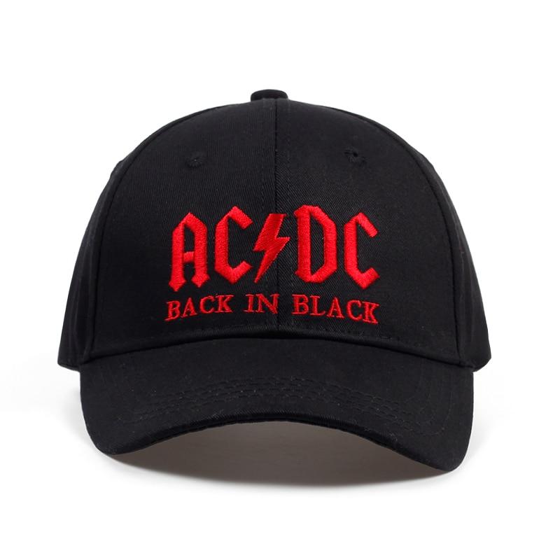 2017 Neue Ac/dc Band Baseball Cap Rock Hip Hop Cap Herren Acdc Hysterese Hut Stickerei Brief Casual Dj Rock Papa Hut
