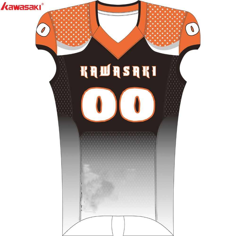 be43e33d8 Kawasaki Brand Sublimated American Football Top Jersey Men Custom USA  Collage Football Team Wear Shirt Jersey