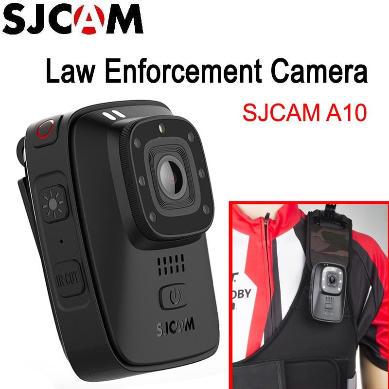 Портативная камера для правоохранительных органов SJCAM A10 носимый корпус камера s IR-Cut B/W переключатель ночного видения Лазерная лампа инфрак...