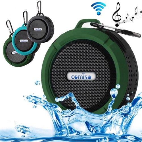100Pcs/Lot C6 Wireless Bluetooth Speaker Waterproof Mini Speaker Shower Music Suction Cup Handsfree Sound Box For Iphone Xiaomi