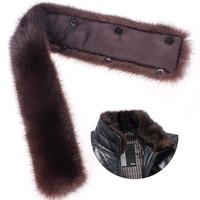 Genuine Winter Raccoon Fur Scarf Scarves Wrap Neck Warmer Shawl Collar Real Raccoon Fur Collar 50cm