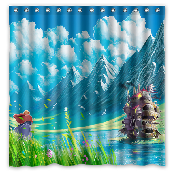 Howls Moving Castle Anime Cartoon Pattern Printed