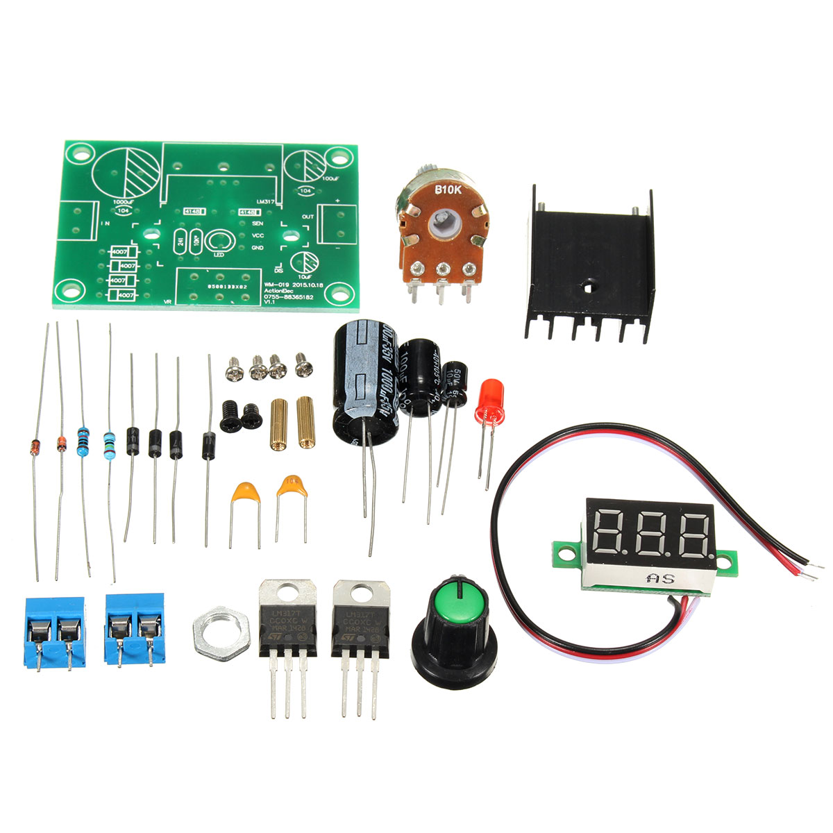 Lm317 Adjustable Voltage Regulator Diy Led Step Down Module Kit Ac Switching Circuit Using Schematic Dc To 27v 40v In Electronics Stocks From Electronic Components Supplies On