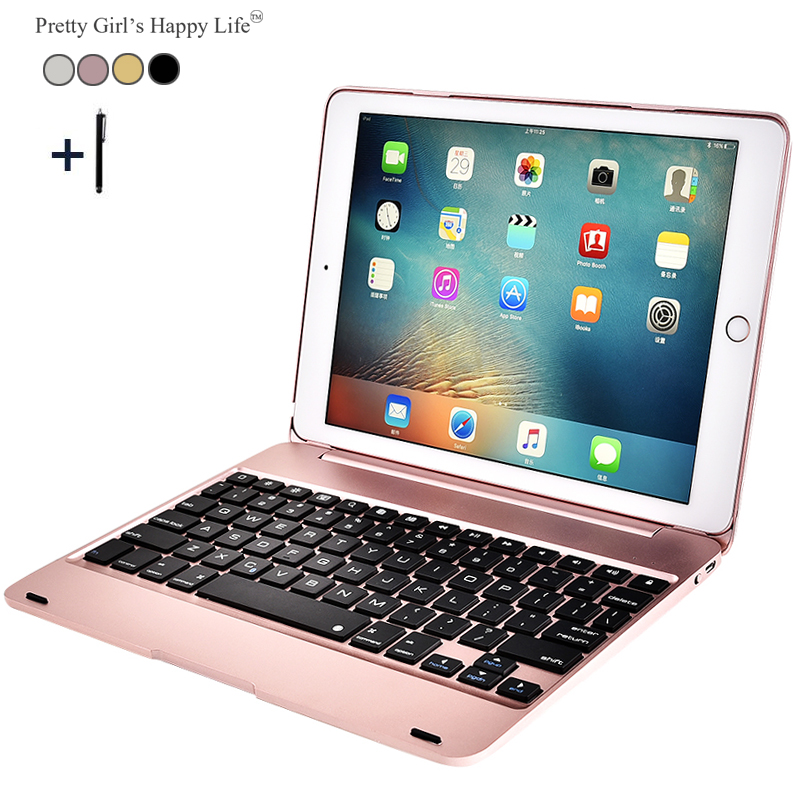 For iPad Air 2 Wireless Bluetooth Keyboard Case For iPad Air 2 A1566 A1567 Tablet Flip Cover For iPad Pro 9.7 2016 A1673+Stylus leather case flip cover for letv leeco le 2 le 2 pro black
