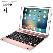 Für iPad Air 2 Drahtlose Bluetooth Tastatur-kasten Für iPad Air 2 Tablet PC Flip Standplatz-abdeckung + Stylus Gfit