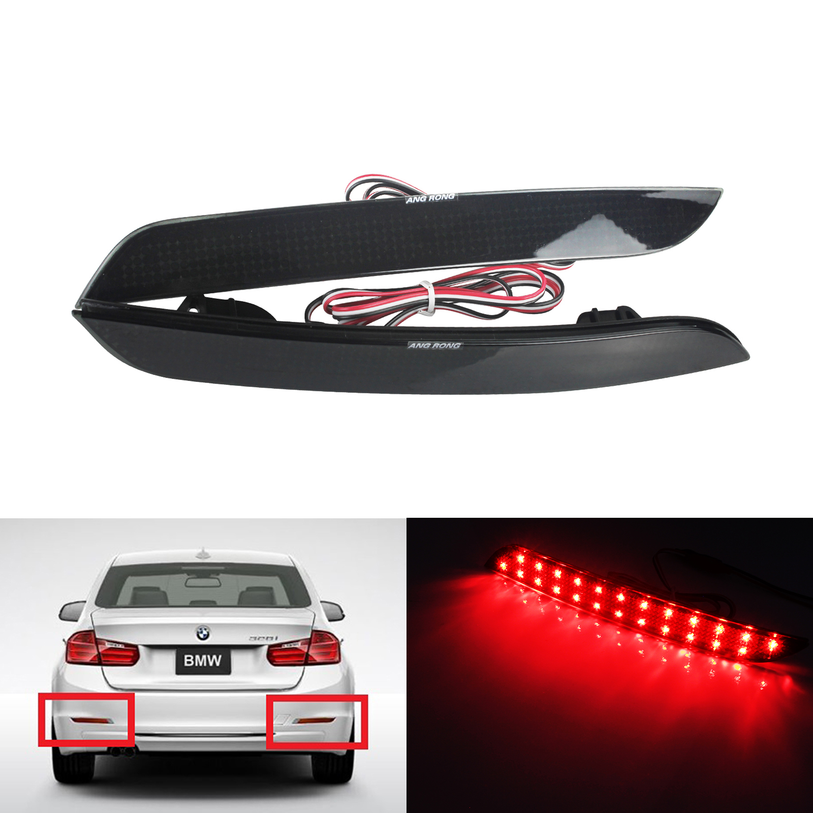 TAIL LIGHT FOR 98mm COMBINABLE REAR LIGHTS KIT CAR 55mm LED INNER CLEAR STOP