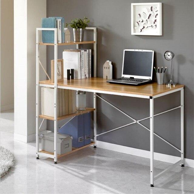 Computer Books On The Table Simple Home Office Desk IKEA Creative Study  Minimalist Style Rectangular Small