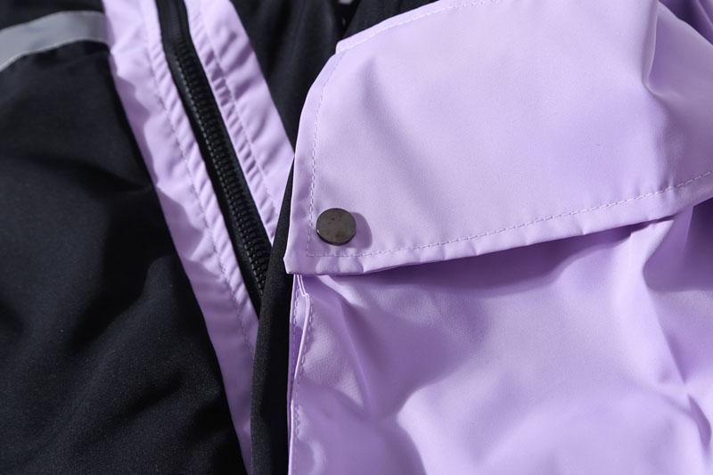 Side Pockets 3M Reflective Stripe Windbreaker Track Jackets 7