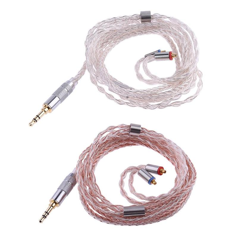 ALLOYSEED 1.2m/3.93FT Earphone Cable MMCX 3.5mm Jack Plug 8-Core Balanced Braid Headset Line For Shure SE535 SE846 SENFER DT2 UE ...