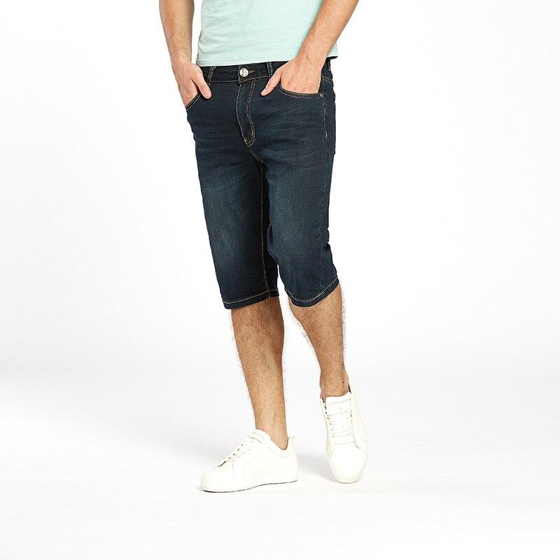 US $39.0  Drizzte Herren Sommer Stretch Leichte Dünne Denim Jeans Kurzen Blau Jean Shorts Plus Größe 32 33 34 35 36 38 40 42 in Drizzte Herren Sommer