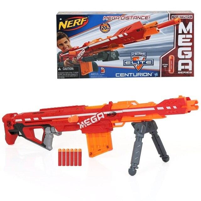 Licensed Nerf N-Strike ELITE MEGA Centurion Blaster Toy Gun with 5 Mega  Darts Refill