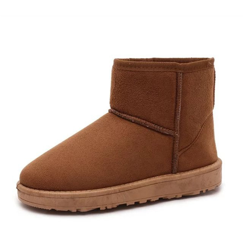 Woman shoes Warm Winter women Snow Boots solid Flock Inside Platform Ankle Boots Casual Flats Comfortable Shoes Woman shoes uexia women winter warm snow shoes casual flats increased shoes woman fur inside comfortable slip on botas zapatos mujer flock