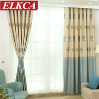 1PC Grommet Top Tree Printed Thick Blackout Curtains For Living Room Window Curtains For Bedroom Modern