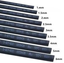 5meter/lot Heat Shrink Tubing Tube Black Color 6MM 7MM 8MM 9MM 10MM 11MM 12MM 13MM