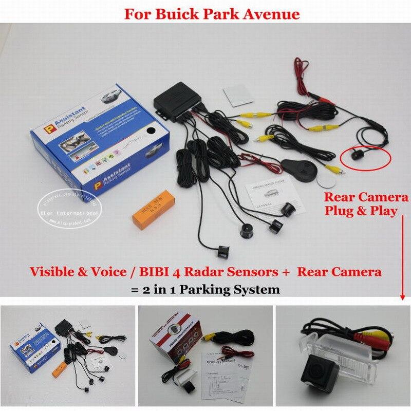 BIBI Alarm Parking System For Buick Park Avenue - Rear View Back Up Camera + Car Parking Sensors = 2 in 1 Visual женские футболки