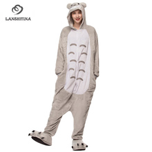 Cartoon Nightwear Flannel Fabric Adult Women Totoro Animal Onesie Pajamas  Cosplay Pyjama for Unisex GL- 24f410e4e