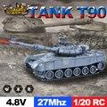 E T 1/20 RC Tank 9CH 27Mhz Infrarot RC Schlacht T90 Tank Kanone & Emmagee Fernbedienung Tank Fernbedienung spielzeug für Jungen Chassis Tank|RC-Panzer|Spielzeug und Hobbys -
