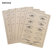 Tattoo Accesories 10pcs Artificial Soft Leather Practice Skin Supply Professional Eyebrow Lip Permanent Makeup