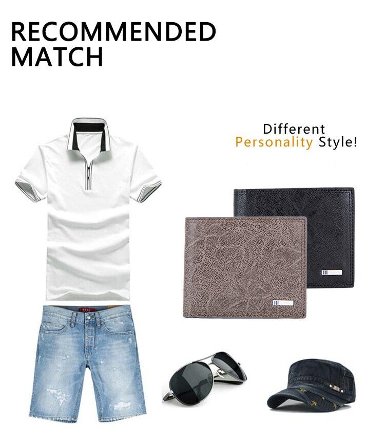 Мужской кошелек с блокировкой RFID, мужской модный кошелек из искусственной кожи, мужские кошельки с защитой личности MRF27