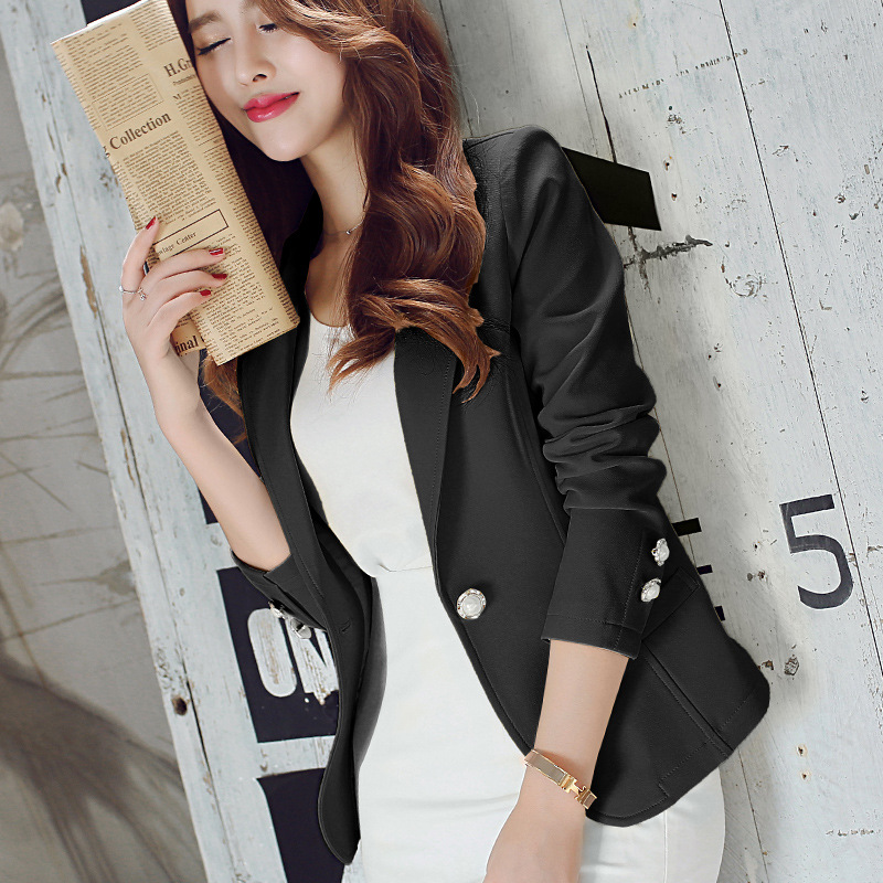 new long sleeved slim women blazers and jackets small. Black Bedroom Furniture Sets. Home Design Ideas