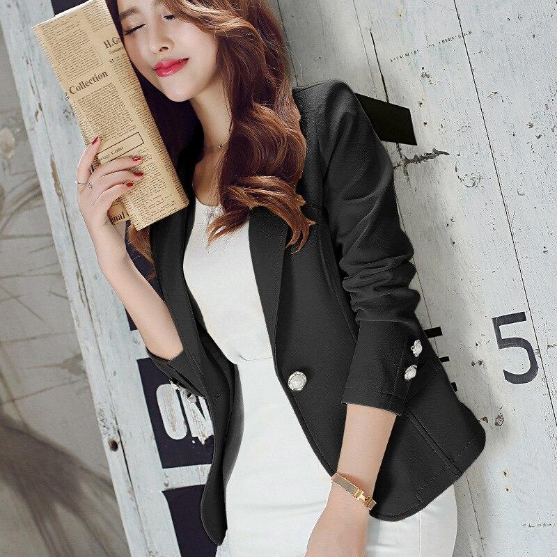 New Long-Sleeved Slim Women Blazers And Jackets Small Women Suit Korean Version Slim (Green Yellow Black)  Ladies Blazer Femme