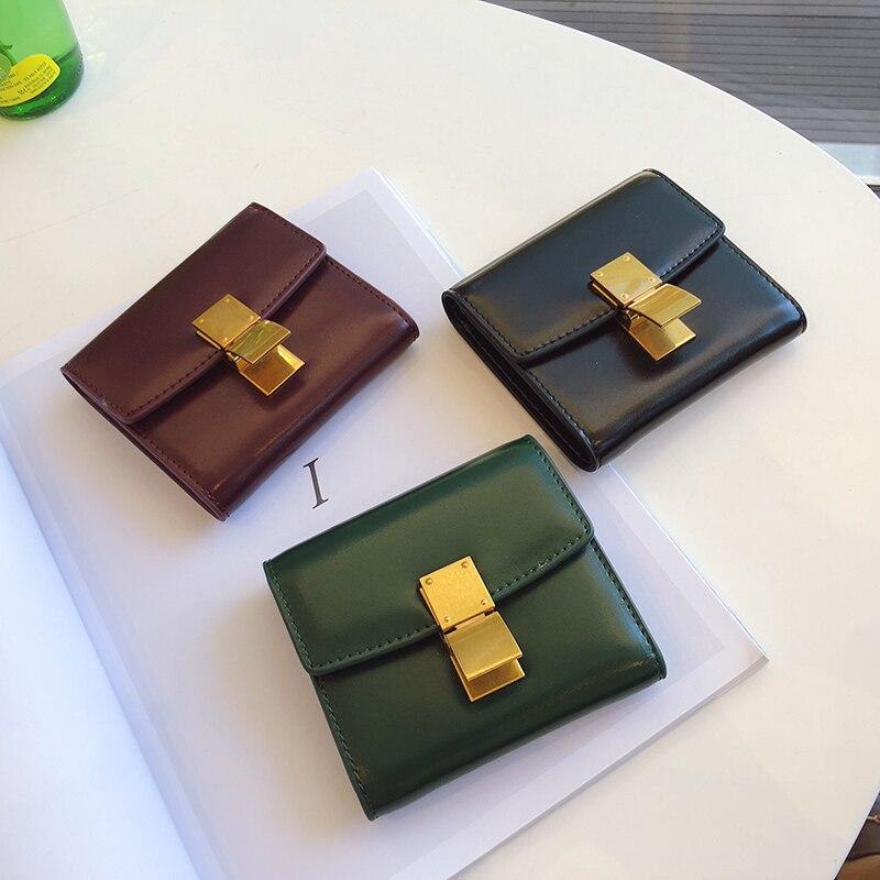 2019 mode femmes en cuir véritable sac en peau de vache boucle Design portefeuille porte-monnaie porte-cartes pochette sac à main portefeuilles courts