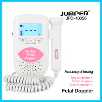 Jumper Fetal Doppler Baby Heartbeat Monitor Household Health Large LCD Backlight CE FDA Approved 3M Probe JPD 100S6