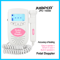 jumper Fetal Doppler Heartbeat Detector Portable Ultrasound Baby Heart Rate Monitor LCD Backlight CE FDA 3M Probe JPD 100S6