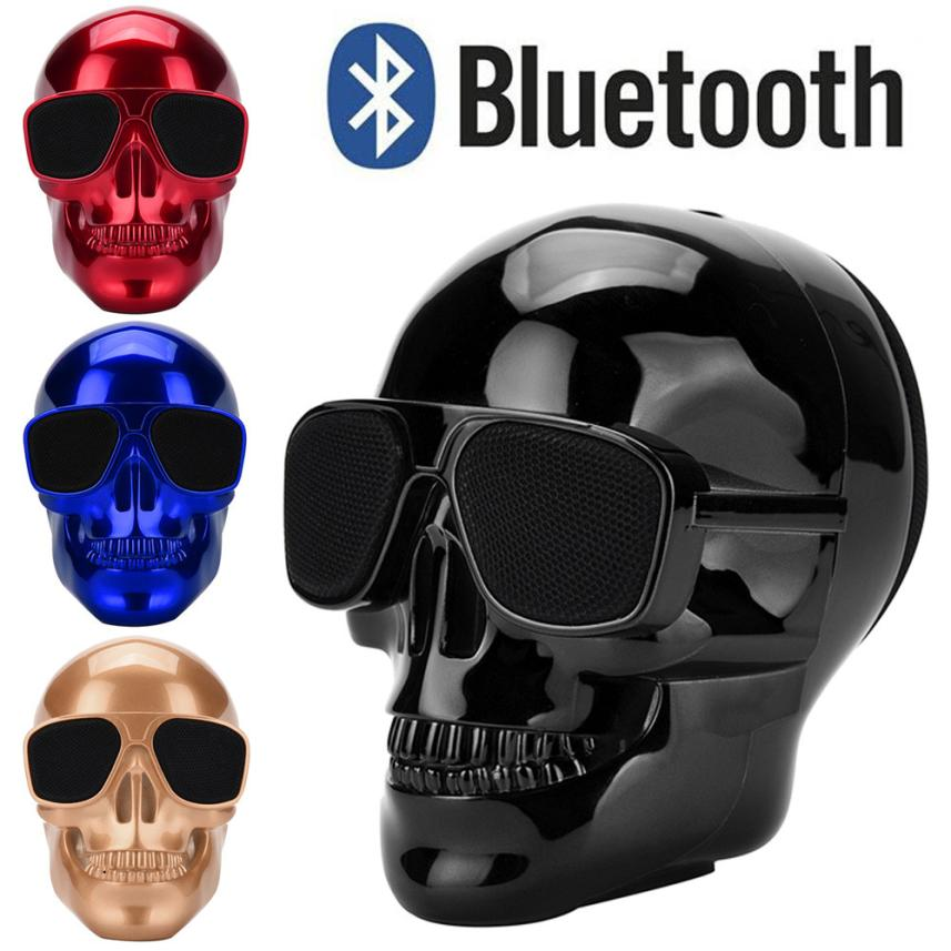 High Quality Plating Skull Protable Wireless Bluetooth3.0 Stereo Speaker With HD Sound and Bass For Music Player