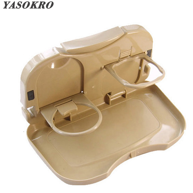 Tray Food Stand Rear Seat Beverage Rack Water Drink Holder Bottle Travel Mount Accessory Foldable Meal Cup Desk Table