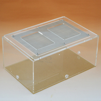1PCS Acrylic Eco Cylinder Landscape Box Deluxe Ant Farming Feeding Box Insect Box