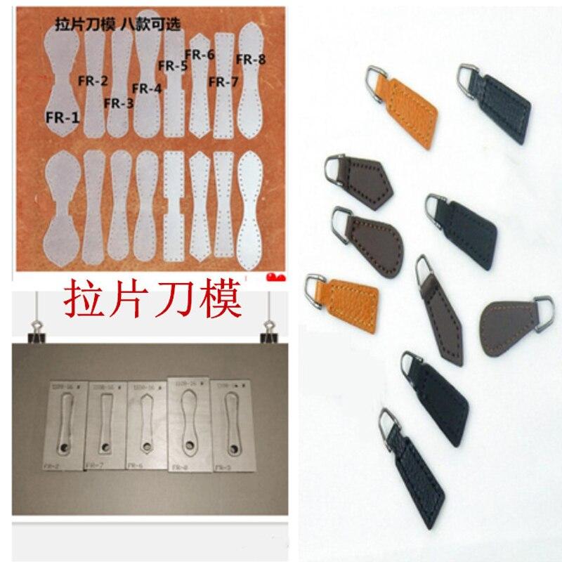 Дизайнерский кожаный ремесленный шаблонный резак на молнии с кожаной ручкой, нож для высечки, форма для ручного перфоратора, набор инструме...