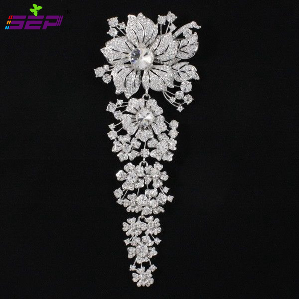 7.9inches Length Rhinestone Crystal Bridal Wedding Bouquet Large Brooches Brooch Pin Broach Women Jewelry Accessories 4704 1 6 scale ksk lrrp mens head sculpt for 12 inches male figures bodies