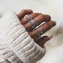 Fashion Simple Ball 6Piece Set Rings for Women a set of  Elegant Silver Sphere Zinc Alloy Wedding Ring Set female Jewelry a suit of trendy embellished wedding jewelry set for women