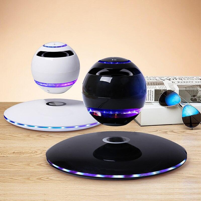 2019 suspension magnétique rotation bluetooth haut-parleur Portable pour Subwoofer séparé coloré lumières sans fil ordinateur haut-parleurs