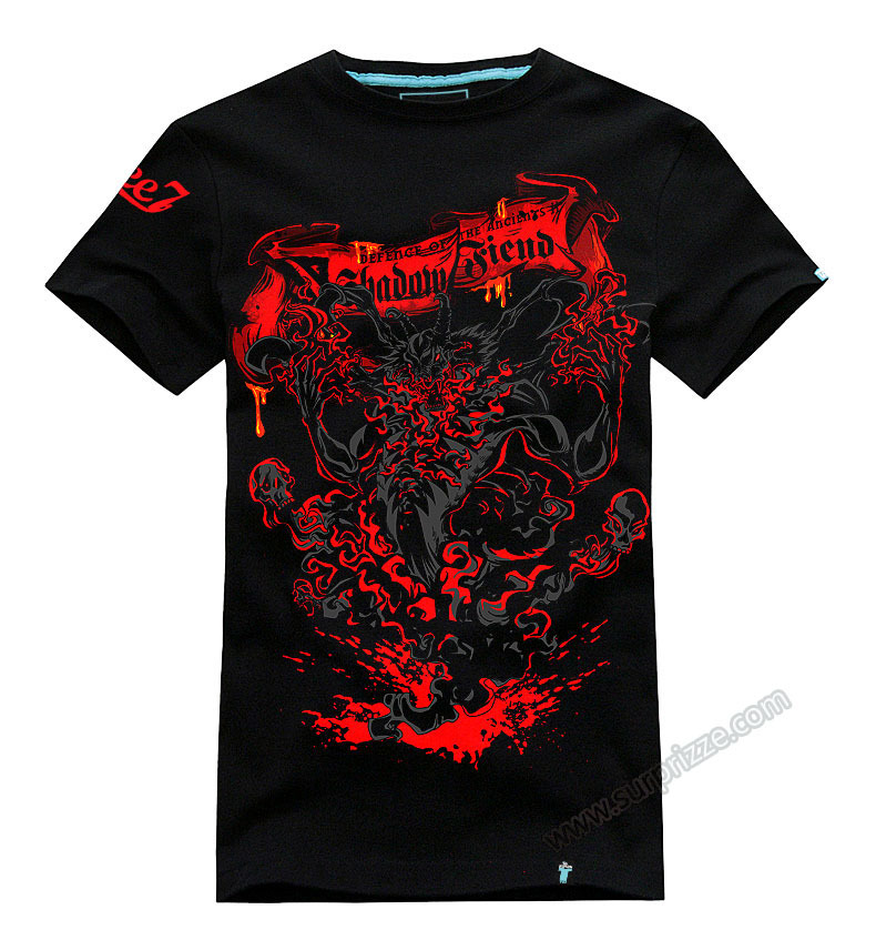 High quality 3D Black DOTA 2 Heroes T-shirts Shadow Fiend Designed Tees For Mens Cool