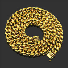 1PC Hip-hop glossy Miami thick Cuban chain necklace Nightclub domineering accessories Support generation цена