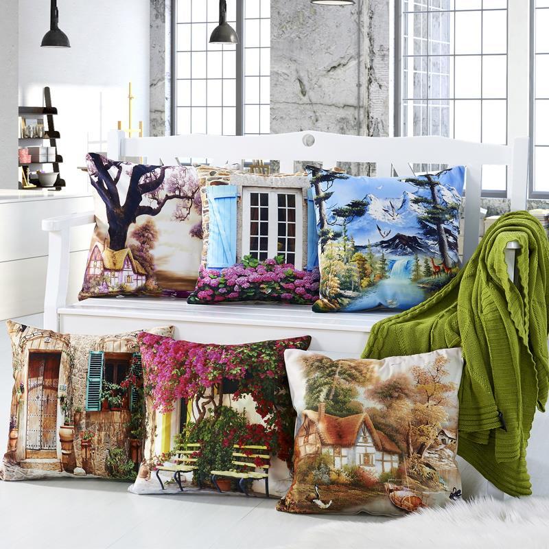 3D Design Flower Window Pillows 5