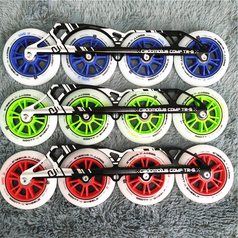 inline roller Frames roller skating frame skate chassis with wheels and bearing
