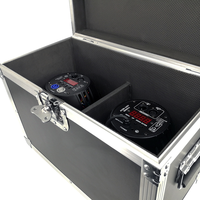Flight Case 2 Pcs Aluminum Alloy 100W COB Lighting LED Can Par Light Stage Effect Lighting Disco KTV Party TV Studio Show
