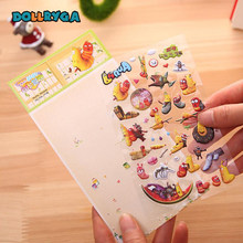 DIY 3D Stickers Children Stickers Toys Cartoon Animal Pattern Bubble Leather Diary Decoration Pasting Mobile Kindergarten Toys(China)